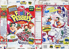 1998 Bedrock Blizzard Fruity Pebbles Cereal Box cc071