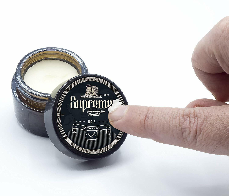 Bartwachs Beard Wax Vanille Bartpflege Jojobaöl Arganöl Sheabutter