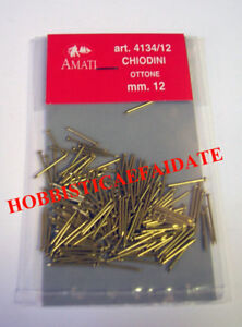 AMATI-4134-12-CHIODINI-PER-NAVE-IN-LEGNO-MM12-OTTONE