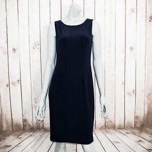 Joseph-Ribkoff-Women-039-s-Sleeveless-Sheath-Jersey-Dress-Blue-Size-10