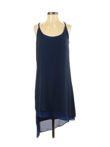 BCBGMaxazria Gigi Dress Womens Size S Blue Asymmet