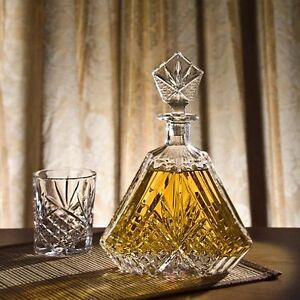 whisky set karaffe 0 55l 6 gl ser bohemia bleikristall 24 pbo serie alexandra ebay. Black Bedroom Furniture Sets. Home Design Ideas