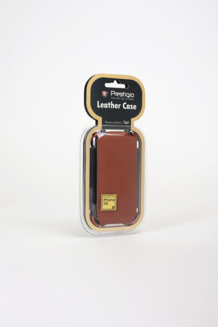NEW Prestigio Leather Case for iPhone 3G/S PIPC1103OG Plane Leather - Orange