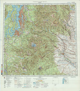 Russian Soviet Military Topographic Maps State WASHINGTON USA - Military topographic maps