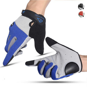 1 Pair Outdoor Sports Summer Cycling Gloves Anti-slip Full Finger Touch Screen