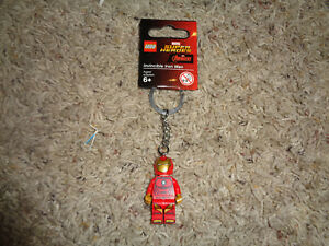 LEGO-SUPER-HEROES-IRONMAN-KEY-CHAIN-NWT-CAN-DISCONNECT-amp-USE-AS-FIGURE-853706
