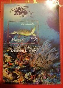 Miniature-sheet-Malaysia-1997-Terumbu-Karang-MNH