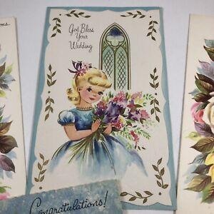 Vintage-1940s-Wedding-Marriage-Bride-Cards-Lot-Of-7-Unused