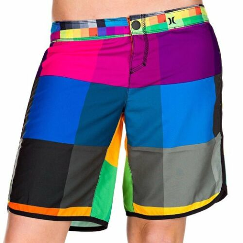 "NWT Hurley Womens Supersuede Solid 9/"" Beachrider Boardshort 00 0 1 3 5 7  Multi"