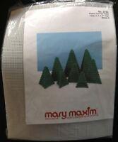 8 Christmas Pine Trees Xmas Mary Maxim Musical Plastic Canvas Village 4 Sizes