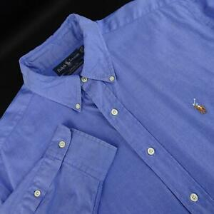 Mens-Polo-Ralph-Lauren-Yarmouth-Pinpoint-Oxford-Dress-Shirt-Size-16-5-33-Large