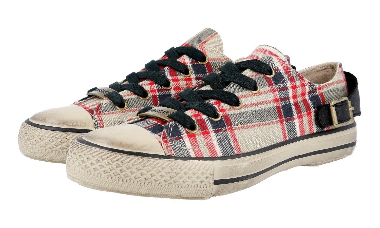 chaussures BELSTAFF 757180 JAIR rouge noir NUOVE 37 37,5