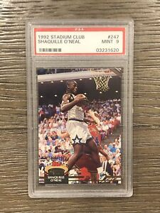 1992-93 Topps Stadium Club #247 Shaquille O'Neal RC Rookie HOF PSA 9 MINT