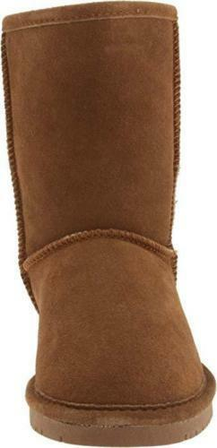 Women Bearpaw Emma Short Snow Boot 608W Hickory Hickory Hickory II Suede 100% Authentic New 2bff70