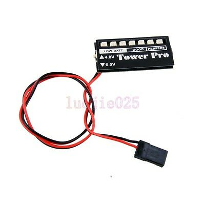 RC Model  4.8V 6.0V LED Receiver Battery Futaba Low voltage Checker Indicator