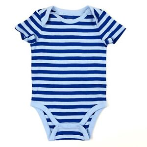 4f20bd1e59 Gap One Piece Bodysuit Size 12-18 Months Baby Boy Blue Short Sleeve ...