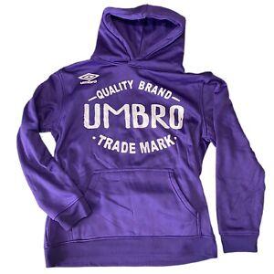 UMBRO Hoodie Pullover Quality Brand Trade Mark Boys Purple Sweatshirt L 14-16
