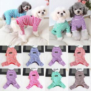 Pet-Jumpsuit-Coat-Fall-Winter-Dog-Stripe-Pajamas-Cat-Puppy-Clothes-Teddy-Costume