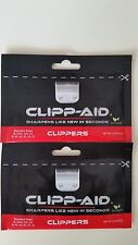Clipp-Aid Brand NEW CLIPPER BLADE SHARPENER STANDARD TRIMMER GROOMING TWO PACKET