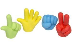 12-x-Radiergummi-bunte-Hand-ca-3-5-cm-Radierer-Mitgebsel-Tombola