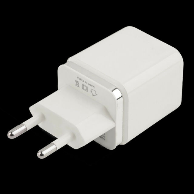 Universal 4 Ports USB Travel Wall Charger Multi Power Adapter Pack White EU Plug