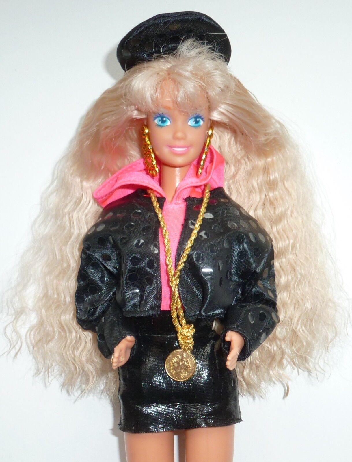 1991 Vintage Rappin Rappin Rappin Rockin Barbie Doll a2a125