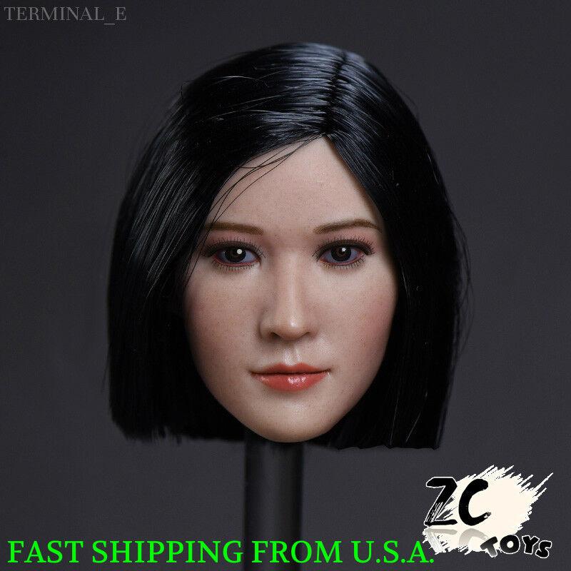 1 6 Female Asian Head Sculpt B For Hot Toys Phicen TBLeague Female Figure ❶USA❶
