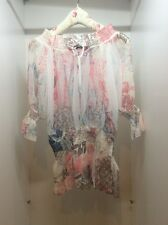 Jane Norman Summer Party Multi Pink Top Size 12