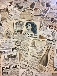 For Art Gentle 50 1880's collage Reliable Performance 1920's Small Magazine Ads