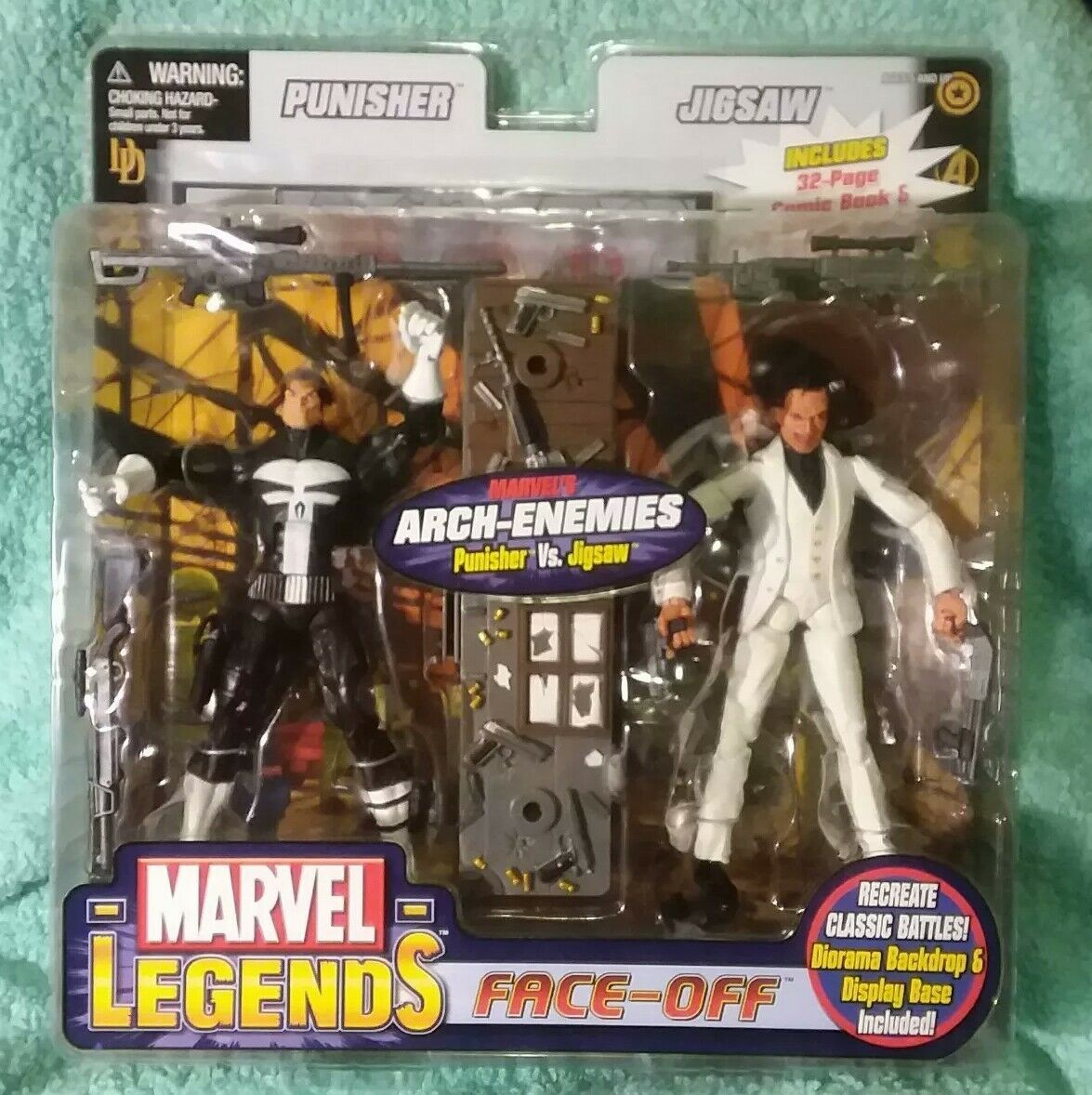 Punisher vs Jigsaw  variante Costume Blanc   Marvel Legends Face-Off   toybiz Figure