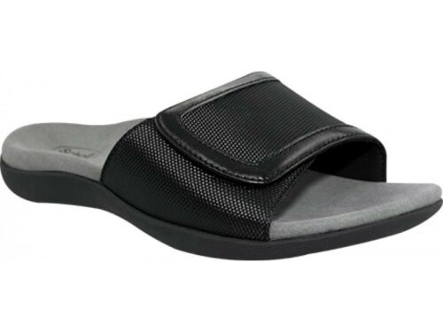 291f98df124 Scholl Orthaheel Women s Slides Somas Black Orthotic aqZxdzq