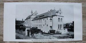 1-Blatt-1929-Bamberg-Krankenhaus-Chirurgischer-Pavillon-Architektur-Ofr-23x11cm