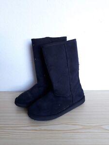 Details zu H&M Stiefel Gr. 38 schwarz warm Winter ugg Boots gefüttert