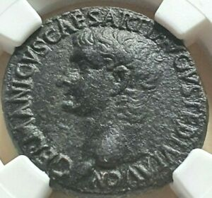 GERMANICUS.DIED19 AD.FRATHER OF CALIGULA.AS.NGC CH VF.