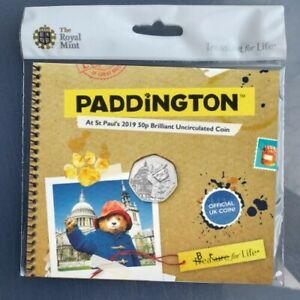 NEW-Paddington-at-St-Pauls-Cathedral-50p-Coin-Royal-Mint-BU-BUNC-Sealed-Folder