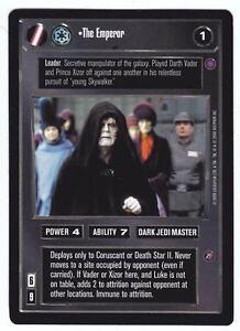 SWCCG-Star-Wars-CCG-The-Emperor-Palpatine-Dark-Sith-REFLECTION-II-2-RARE