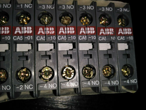 ABB CA5-10 NEU Hilfskontakt Hilfsschalter Hilfskontaktblock Hilfsschalterblock /%