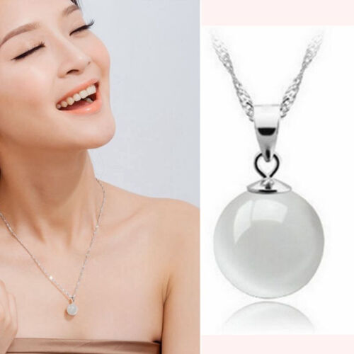 Fashion 925 Sterling Silver Charms Pendant Necklace Unisex Wedding Jewelry Gifts