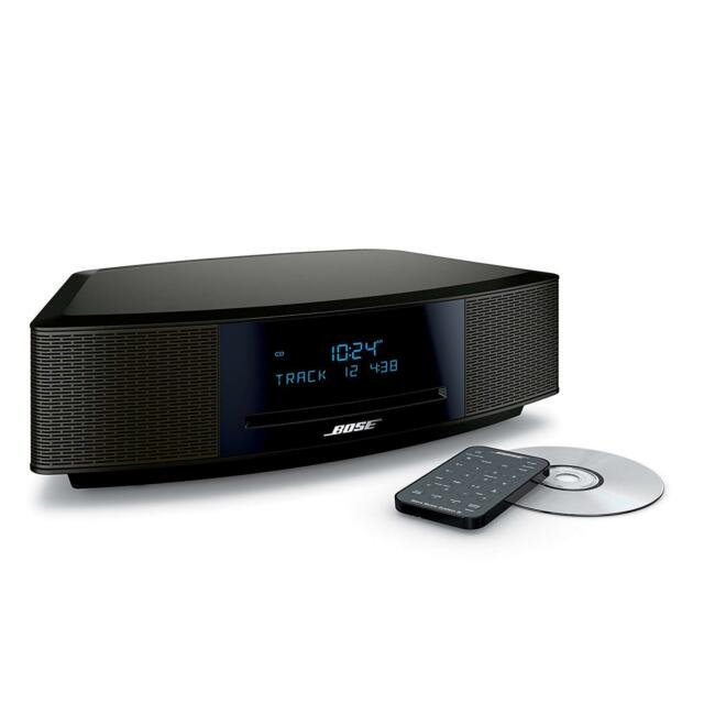 Bose Wave Music System IV with Remote, CD Player and AM/FM Radio Silver | BLACK