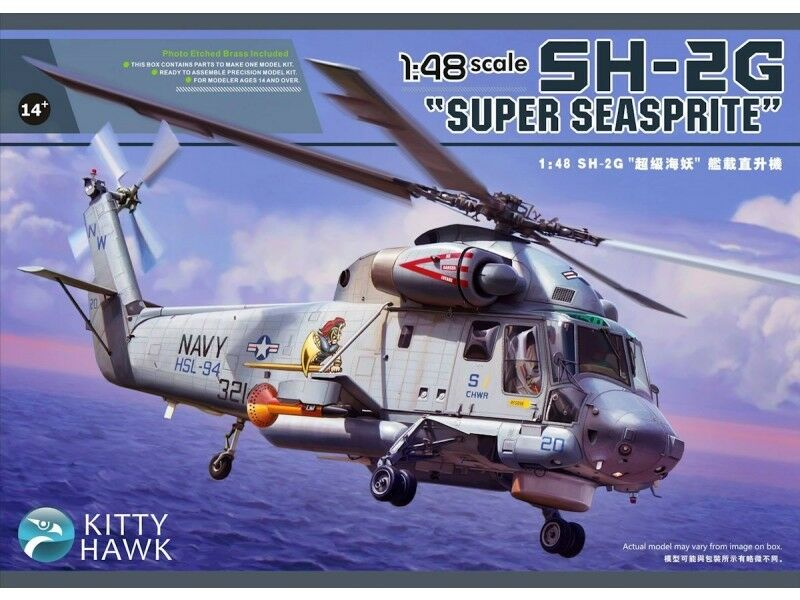 Hélicoptère US. KAMAN SH-2G  SUPER SEASPRITE  - KIT KITTY-HAWK 1 48 - N° 80126