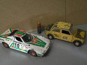Burago LANCIA Stratos V6 Rally 1:24 scale Original Vintage Car + FIAT 123 RESTOR