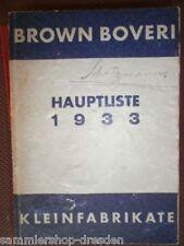 el35 Brown Boveri Hauptliste 1933 Kleingeräte: Gleichstrom-Maschinen, Drehstrom