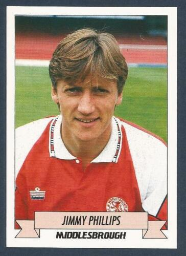 PANINI FOOTBALL 93 #148-MIDDLESBROUGH-OXFORD-RANGERS-BOLTON-JIMMY PHILLIPS