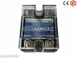 25A-3-32VDC-to-24-480V-AC-Solid-State-Relay-SSR-Clear-Cover