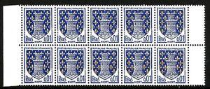 France-Bloc-de-10-n-1351A-Neuf-luxe-1962