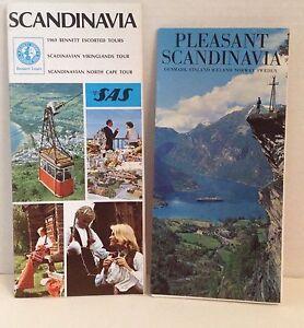 Vintage Travel Brochure Scandinavia 1969 Tour Booklets Denmark Norway Sweden