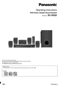 Details about Panasonic SA-XH20 Home Theater System Owners Instruction  Manual