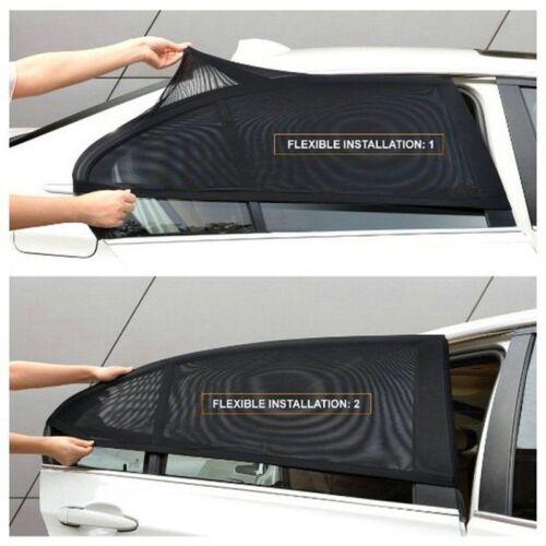 2X Car SUV UV Protection Side Rear Window Screen Mesh Sunshade Sun Shades Covers