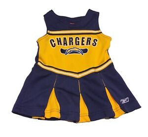 1fa77cf2 Details about REEBOK Los Angeles Chargers Girls Cheerleader Outfit Children  Toddlers 12 Months