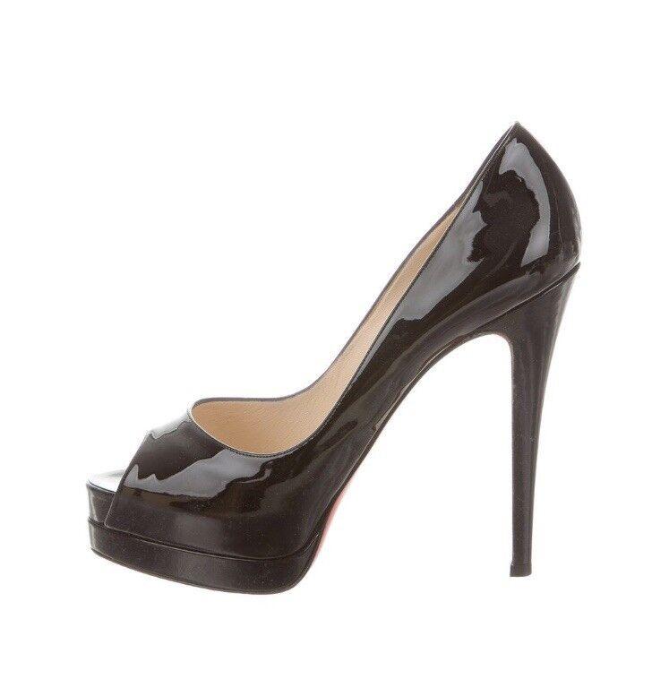 nuova esclusiva di fascia alta 100 Authentic donna Louboutin so Kate Nude Nude Nude Patent Heels pumps US 39  godendo i tuoi acquisti